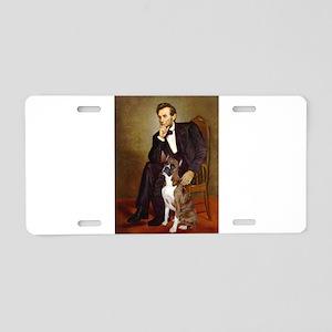 Lincoln & his Boxer Aluminum License Plate