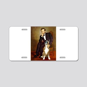 Lincoln & his Boxer Aluminum License Plate