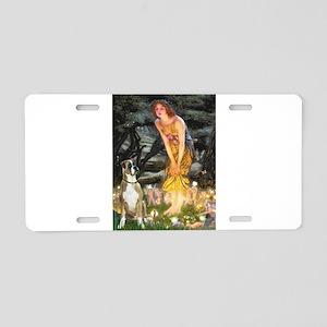 Fairies & Boxer Aluminum License Plate