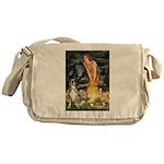Fairies & Boxer Messenger Bag