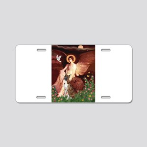 Seated Angel & Boxer Aluminum License Plate