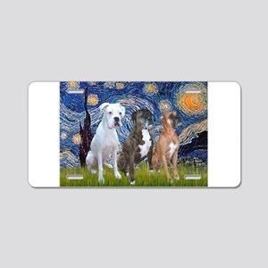 Starry / 3 Boxers Aluminum License Plate