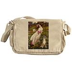 Windflowers & Boxer Messenger Bag