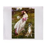 Windflowers & Boxer Throw Blanket