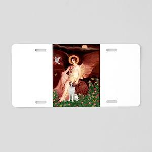 Angel/Brittany Spaniel Aluminum License Plate