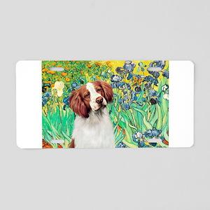 Irises/Brittany Aluminum License Plate