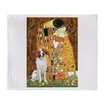 Kiss/Brittany Spaniel Throw Blanket