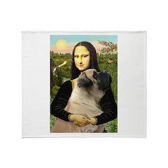 Mona /Bullmastiff Throw Blanket