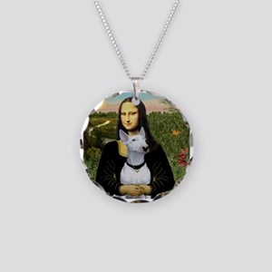 Mona's Bull Terrier Necklace Circle Charm