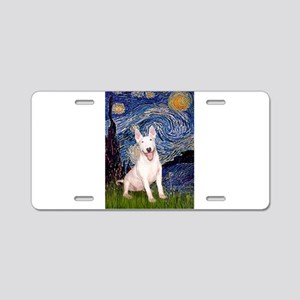 Starry/Bull Terrier (#4) Aluminum License Plate