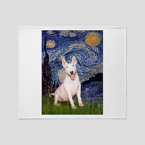 Starry/Bull Terrier (#4) Throw Blanket