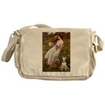 Windflowers Bull Terrier Messenger Bag
