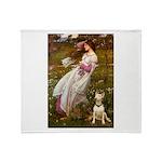 Windflowers Bull Terrier Throw Blanket