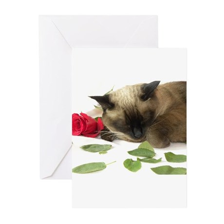 Cute Cat Valentine Greeting Cards (Pk Of 10)