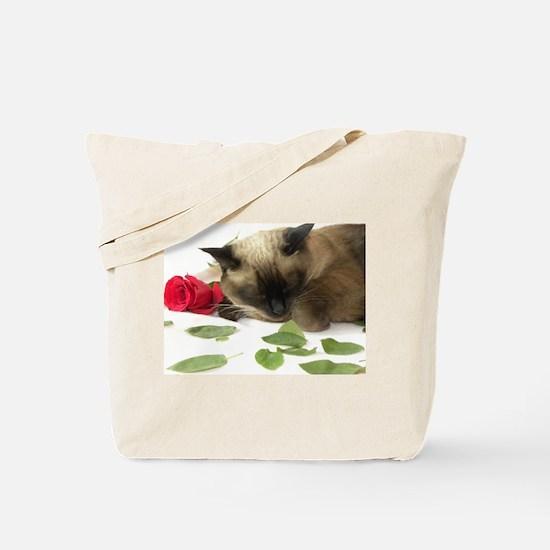 Cute Siamese Tote Bag