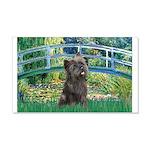 Bridge /Cairn Terrier (w) 20x12 Wall Decal