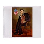 Lincoln's Ruby Cavalier Throw Blanket