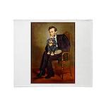 Lincoln & his Cavalier (BT) Throw Blanket