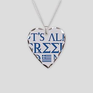 It's All Greek Necklace Heart Charm