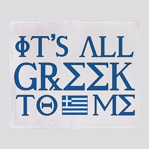 It's All Greek Throw Blanket