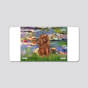 Lilies and Ruby Cavalier Aluminum License Plate