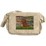Lilies and Ruby Cavalier Messenger Bag