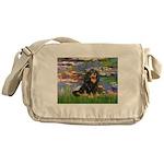 Lilies (2) & Cavalier (BT) Messenger Bag