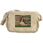 Lilies2 & Cavalier Messenger Bag