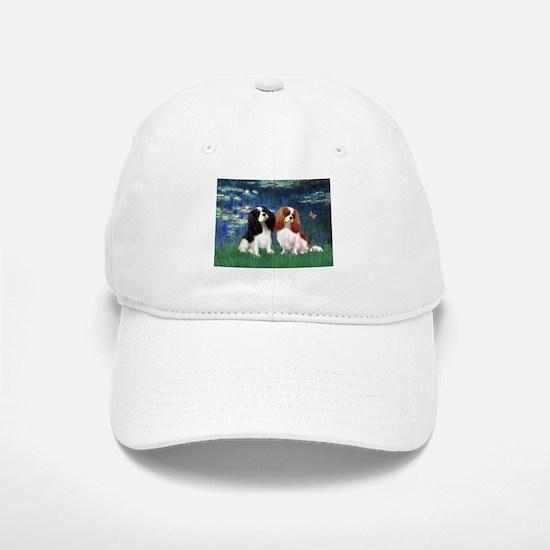 Lilies (5) & Cavalier Pair Baseball Baseball Cap