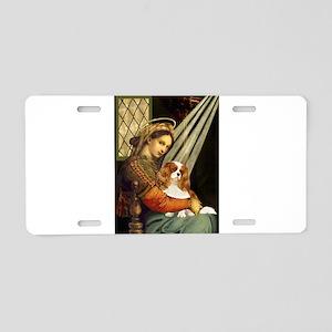 Madonna & Cavalier Aluminum License Plate