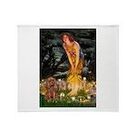Fairies & Ruby Cavalier Throw Blanket