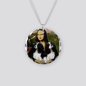 Mona's 2 Cavaliers Necklace Circle Charm