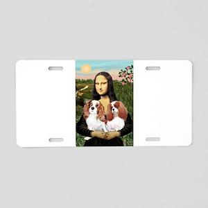 Mona's 2 Cavaliers Aluminum License Plate
