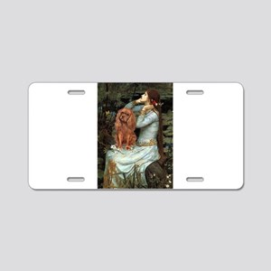 Ophelia & Ruby Cavalier Aluminum License Plate