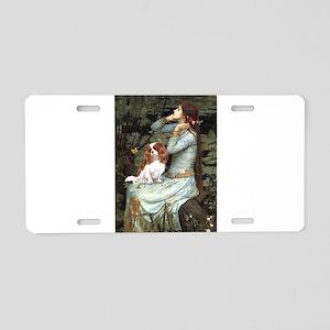 Ophelia & Cavalier Aluminum License Plate