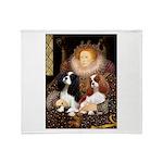 The Queens Cavalier Pair Throw Blanket