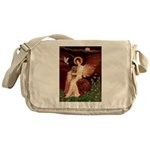 Seated Angel & Ruby Cavalier Messenger Bag