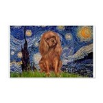 Starry Night Ruby Cavalier 20x12 Wall Decal