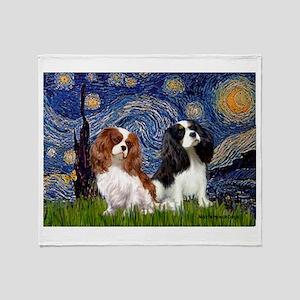 Starry Cavalier Pair Throw Blanket