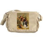 Flowers & Tri Cavalier Messenger Bag