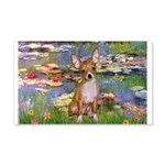 Lilies (2) & Chihuahua 20x12 Wall Decal