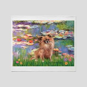 Lilies / Chihuahua (lh) Throw Blanket