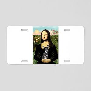 Mona Lisa / Chihuahua Aluminum License Plate