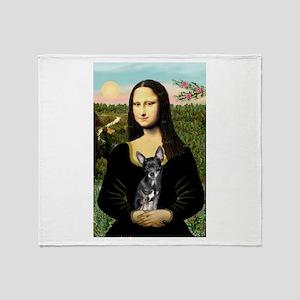 Mona Lisa / Chihuahua Throw Blanket