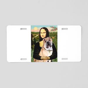 Mona Lisa's Shar Pei (#5) Aluminum License Plate