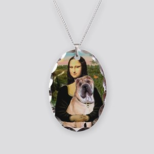 Mona Lisa's Shar Pei (#5) Necklace Oval Charm
