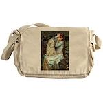 Ophelia / Cocker Spaniel (buff) Messenger Bag