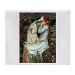 Ophelia / Cocker Spaniel (buff) Throw Blanket