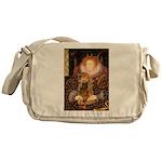 Queen / Cocker Spaniel (br) Messenger Bag