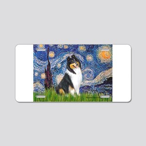 Starry Night / Collie (tri) Aluminum License Plate